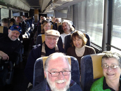 The Sustainable Living List was used to organize the UCWC contingent on a West Chester bus trip (organized by Dianne Herrin) to the February 17, 2013 Climate Forward Rally in DC. Eileen Kelly-Meyer took this photo.