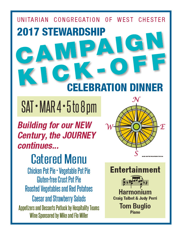 2017 Stewardship Campaign Kick-off Dinner Celebration @ UCWC Sanctuary | West Chester | Pennsylvania | United States