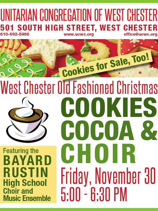 Cookies, Cocoa, and Choir Old Fashioned Christmas @ Fellowship Room and Sanctuary | West Chester | Pennsylvania | United States