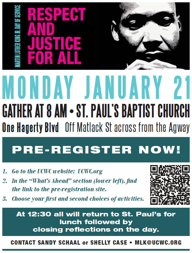 MLK Day of Service @ St. Paul's Baptist Church | West Chester | Pennsylvania | United States