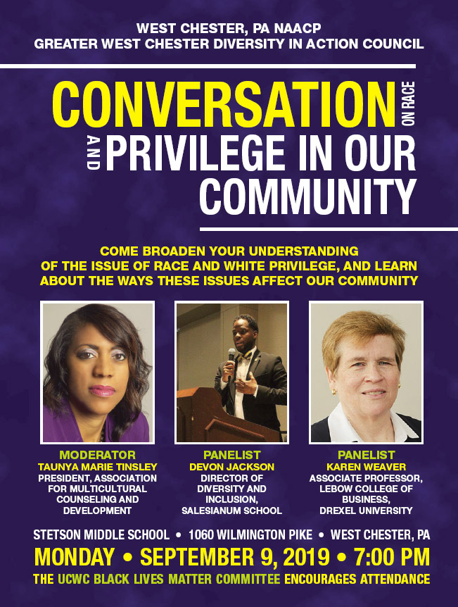 Conversation on Race and Privilege @ Stetson Middle School | West Chester | Pennsylvania | United States