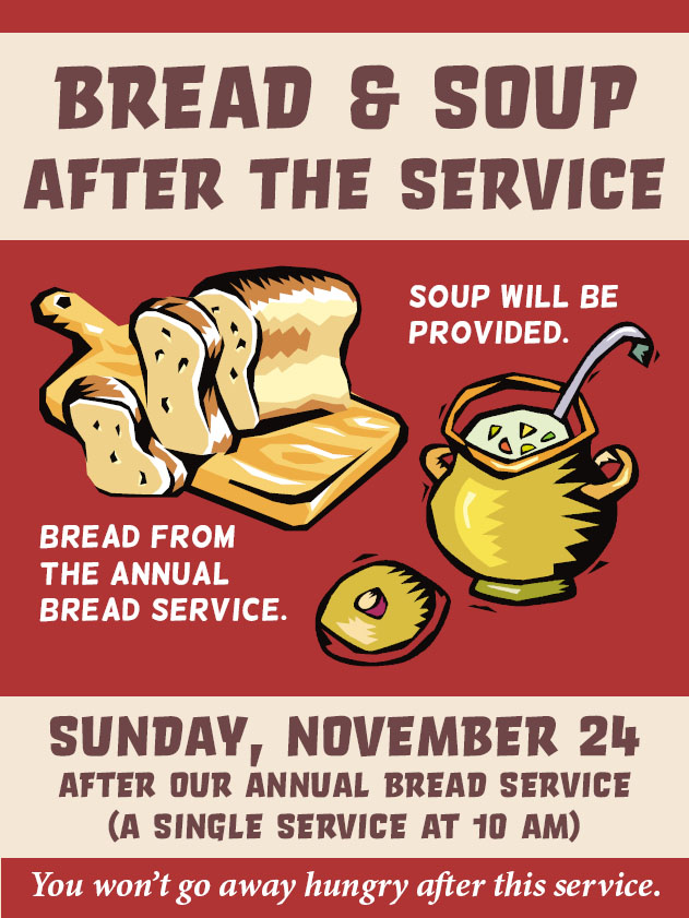 Bread and Soup After the Service @ UCWC Sanctuary