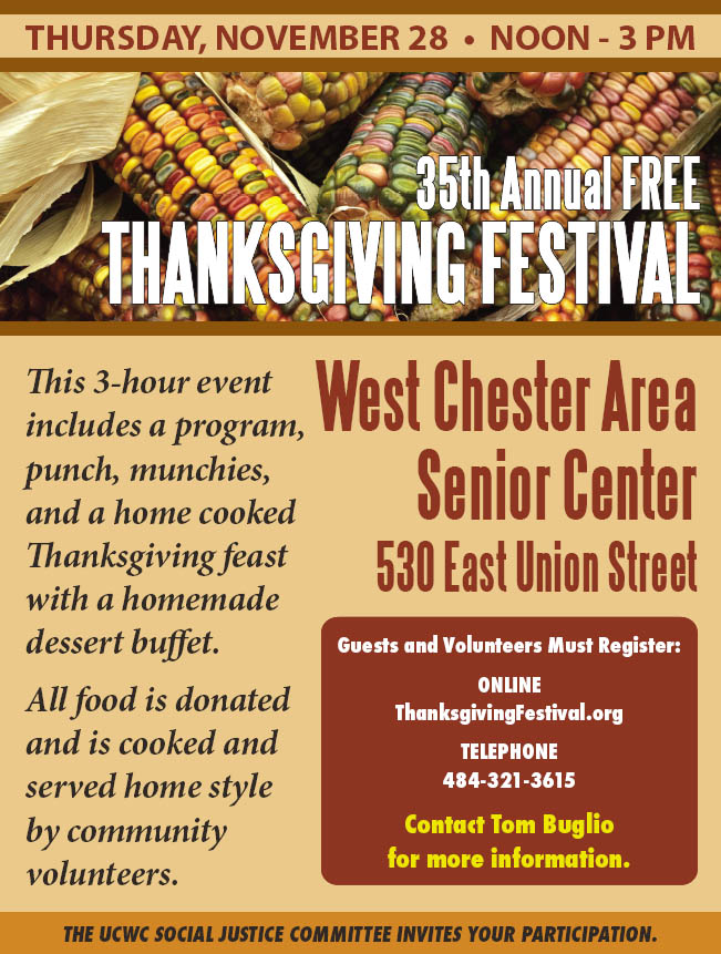 35th Annual Free Thanksgiving Festival @ West Chester Area Senior Center | West Chester | Pennsylvania | United States