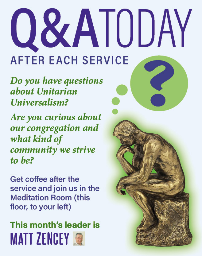 UU Q&A Session @ UCWC Meditation Room