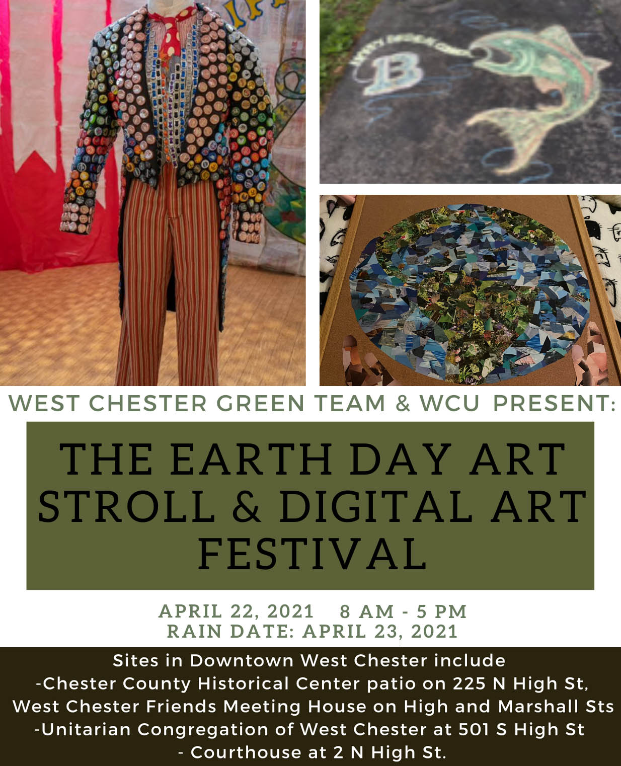 Walk the Chalk Earth Day Celebration @ UCWC   West Chester   Pennsylvania   United States